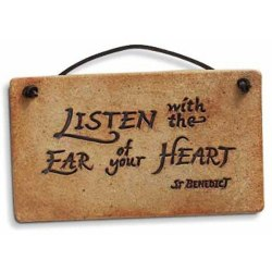 Listen with the Ear (stoneware plaque)