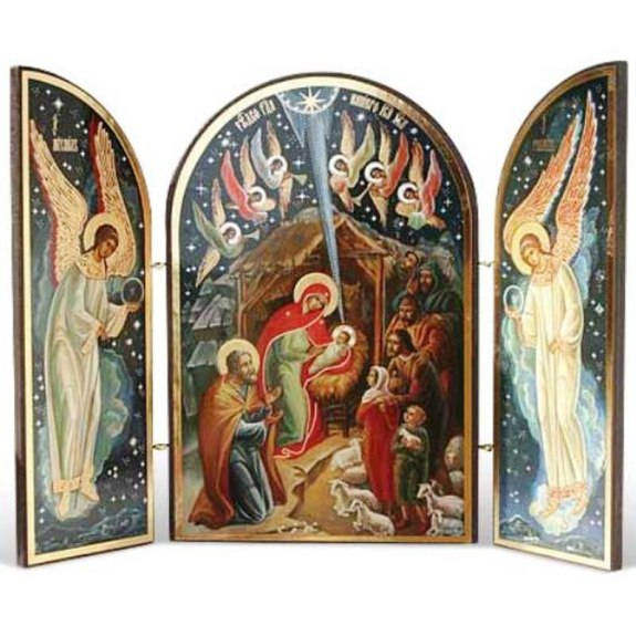 Nativity at Night Icon Triptych