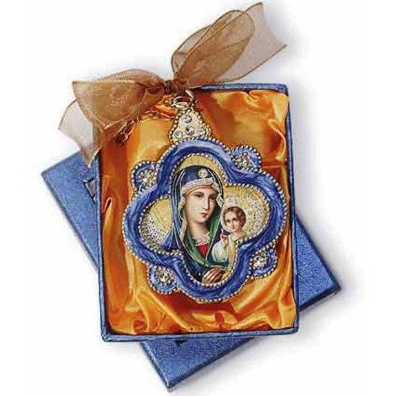 Virgin & Child Jeweled Ornaments