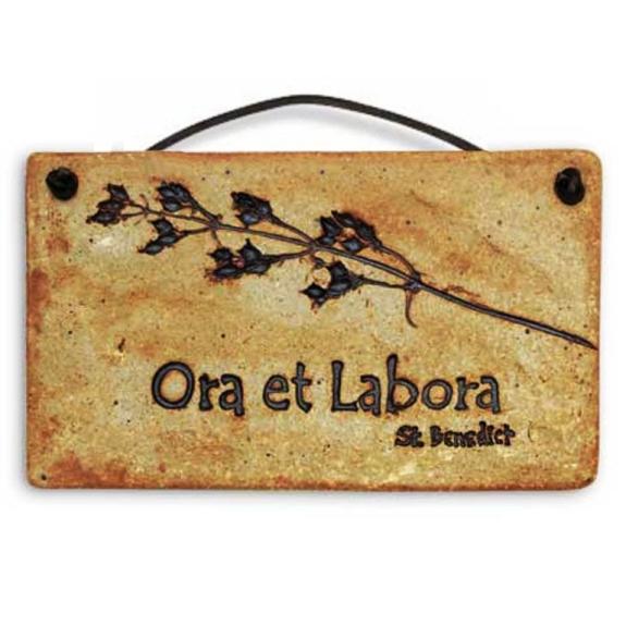 Ora et Labora (plaque)