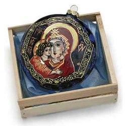 Madonna & Child Ceramic Ornament