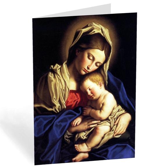 Blue Madonna & Child (box of 18)