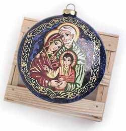 Holy Family Ceramic Ornament