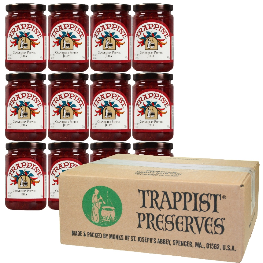 Trappist Preserves - Cranberry Pepper Jelly (12-Jar Case)