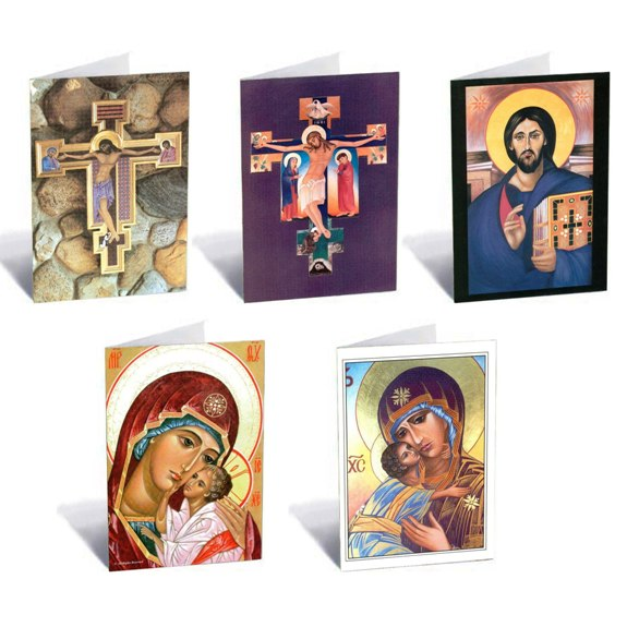 Assorted Icon Note Cards (5-pack)