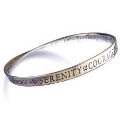 Serenity Prayer Mobius Bracelet (silver)