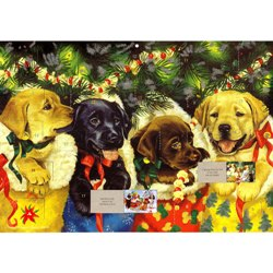 Advent Calendar with Puppies
