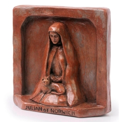 Julian of Norwich, Patron of Cats (statue)