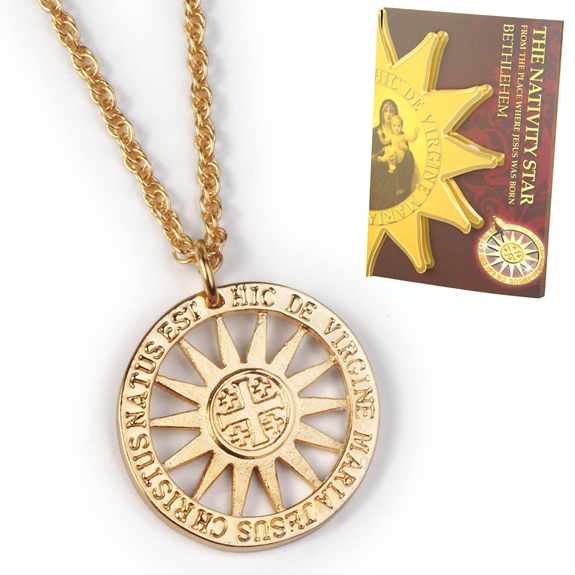 Nativity Star Pendant (gold)