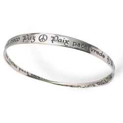 Peace Mobius Bracelet (silver)