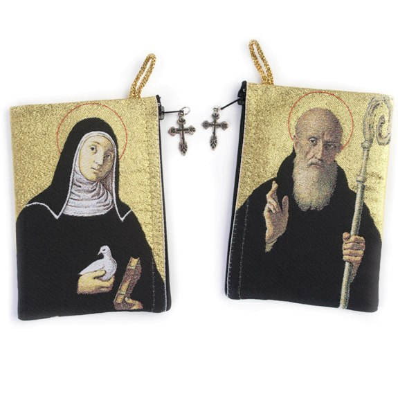 Benedict & Scholastica Rosary Pouch (TIP10)