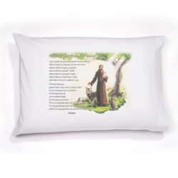 St. Francis Prayer Pillowcase