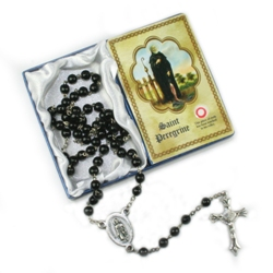 St. Peregrine Rosary (with third-degree relic)