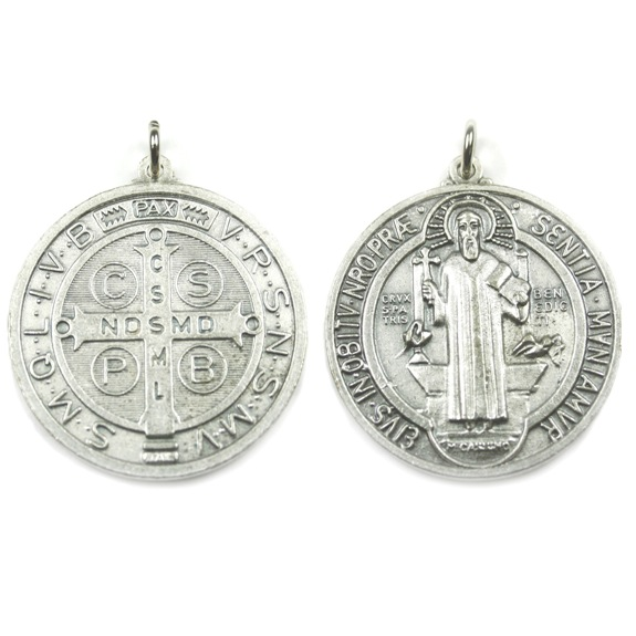 St. Benedict Medal (silver finish)