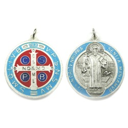 St. Benedict Medal (blue & red)
