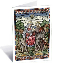 Flight into Egypt Stained Glass (box of 18)