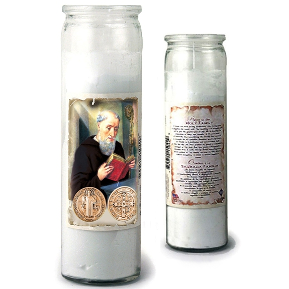 "St. Benedict 3-Day Candle (8"" jar)"