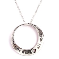 All Shall Be Well Mobius Necklace (silver)
