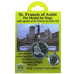 St. Francis Medal with Assisi Soil (for dogs)