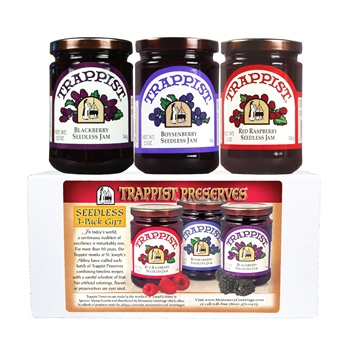 Trappist Preserves Seedless Berry 3-Jar Gift
