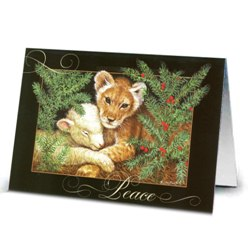 Lion & Lamb Christmas Cards