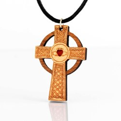 Cross with Claddagh Pendant
