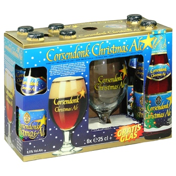 Corsendonk Christmas Gift Set (6 ales & glass)