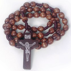 Wood Cord Rosary (brown)