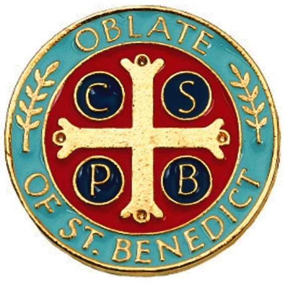 Benedictine Oblate Lapel Pin