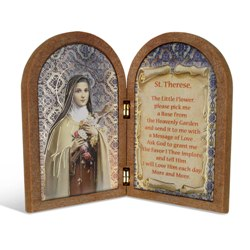 St. Therese (wood diptych)