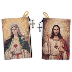 Sacred Heart Rosary Pouch (TIP9)