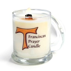 Franciscan Prayer Candle with Tau