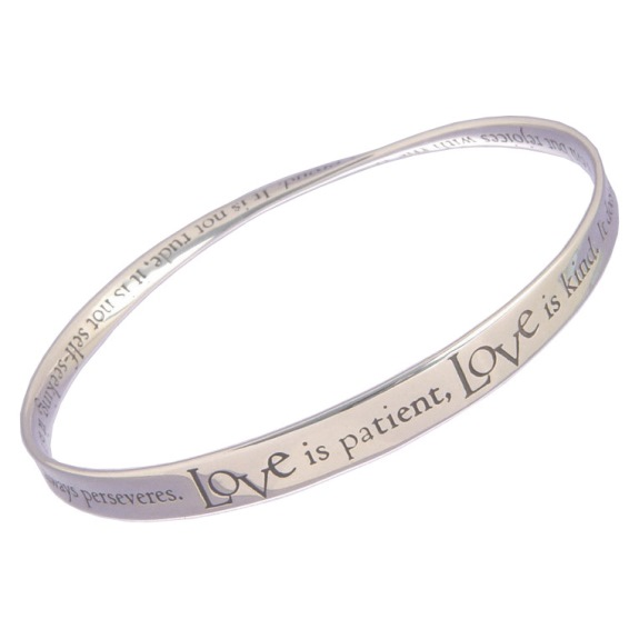 Love is Patient Mobius Bracelet (silver)