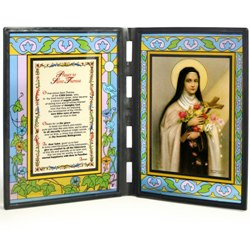 St. Therese (glass diptych)