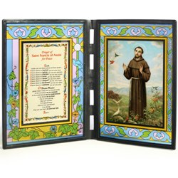 St. Francis (glass diptych)