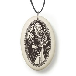 Saints Fine Porcelain Pendants