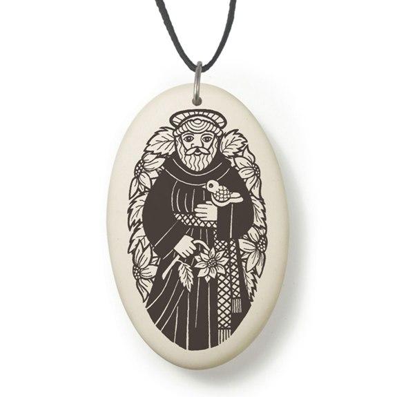 St. Francis Fine Porcelain Pendant (gift box)