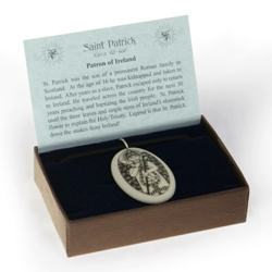 St patrick fine porcelain pendant gift box shop monastery click any image to view larger aloadofball Images