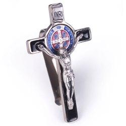 St. Benedict Crucifix Visor Clip (black enamel)