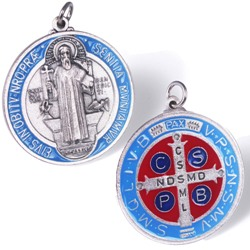 St. Benedict Door Medal (red & blue)