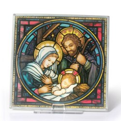 Holy Family Glass Suncatcher