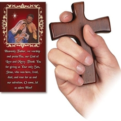 Christmas Hand Cross (with prayer card)