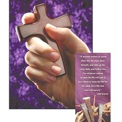 Lenten Hand Cross (with prayer card)