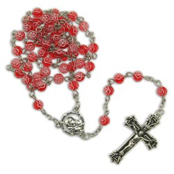Red Rosebud Rosary