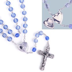 Petition Locket Rosary (gift boxed)