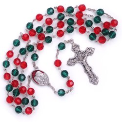 Christmas Rosary (with red gift box)
