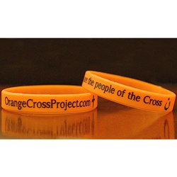 Orange Cross Project Flexible Bracelet