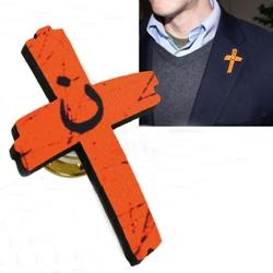 Orange Cross Project Lapel Pin