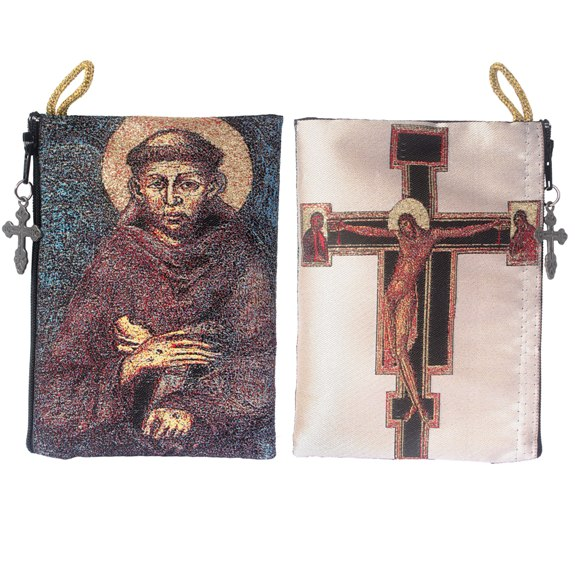 St. Francis Rosary Pouch (TIP29)