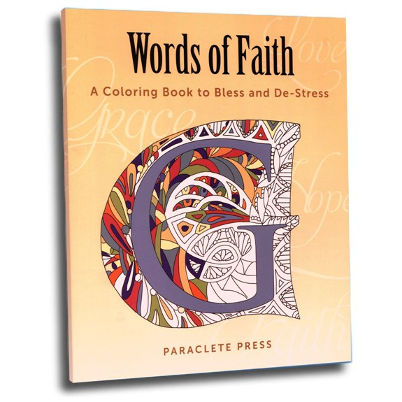Words of Faith Coloring Book (paperback)